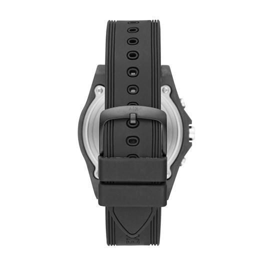 Armani Exchange Men's Hybrid Smartwatch, Black Silicone, 44 mm