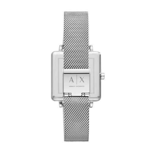 Armani Exchange Lola Square Silver-Tone Analogue Watch AX5800