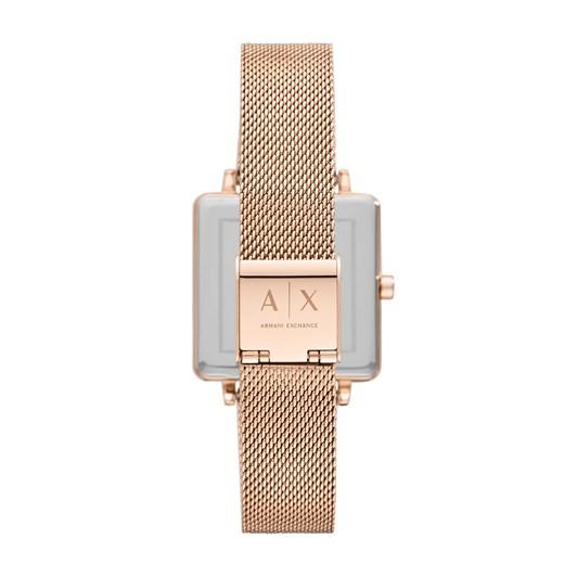 Armani Exchange Lola Square Rose Gold-Tone Analogue Watch AX5802
