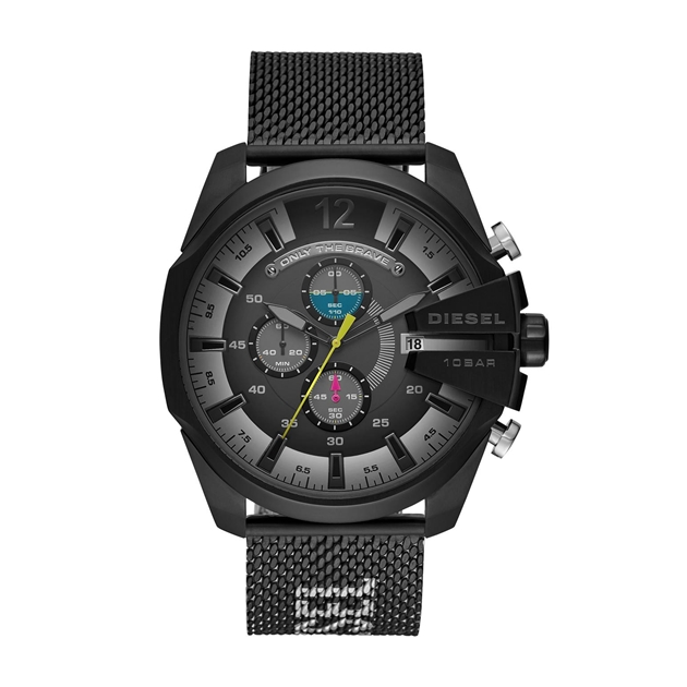 Diesel Mega Chief Black Chronograph Watch DZ4514 - na