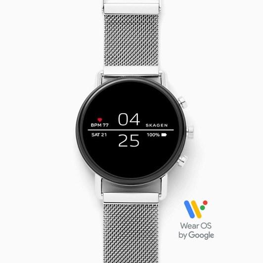 Skagen Falster Silver-Tone Smartwatch SKT5102
