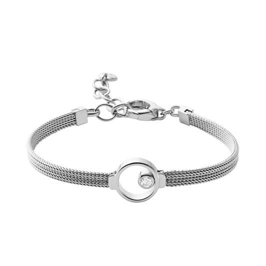 Skagen Elin Silver-Tone Crystal Bracelet SKJ0834040