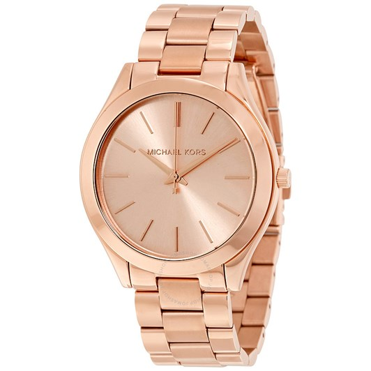 Michael Kors Slim Runway Rose Gold-Tone Analogue Watch MK3197