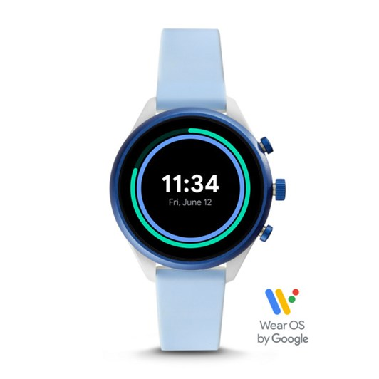 Fossil Sport Smartwatch 41mm Light Blue Silicone FTW6026