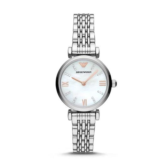 Emporio Armani Silver-Tone Analogue Watch AR11204