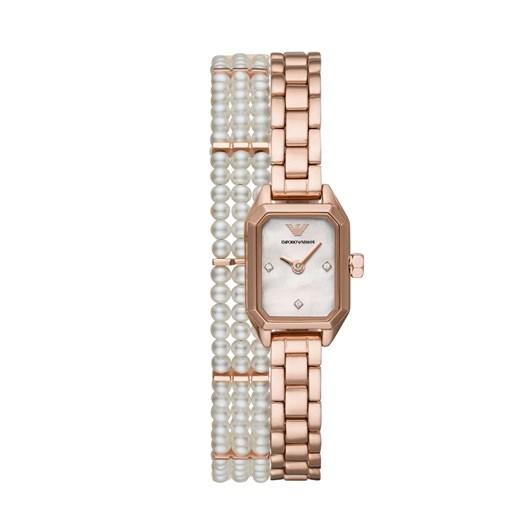 Emporio Armani Gioia Rose Gold Analog Watch Set AR11323