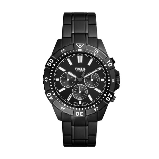Fossil Garrett Black Chronograph Watch FS5773