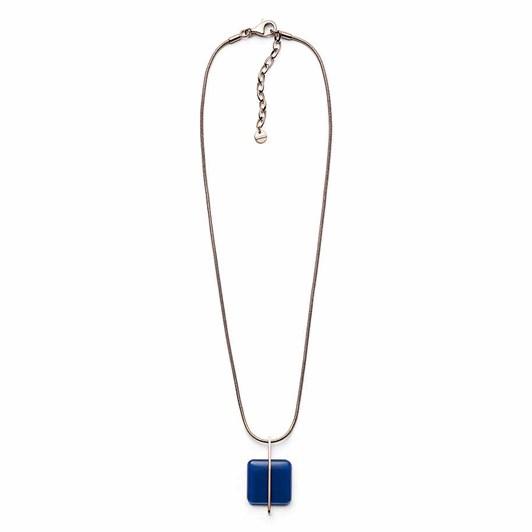 Skagen Blue Sea Glass Rose Gold-Tone Necklace SKJ1134791