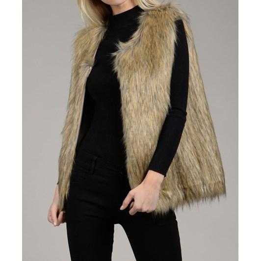Molly Bracken Woven Sleeveless Jacket