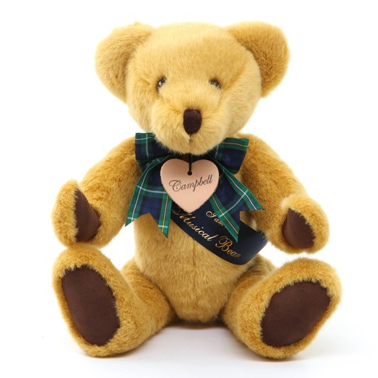 Bear With Us Gold Plush Musical Campbell Bear