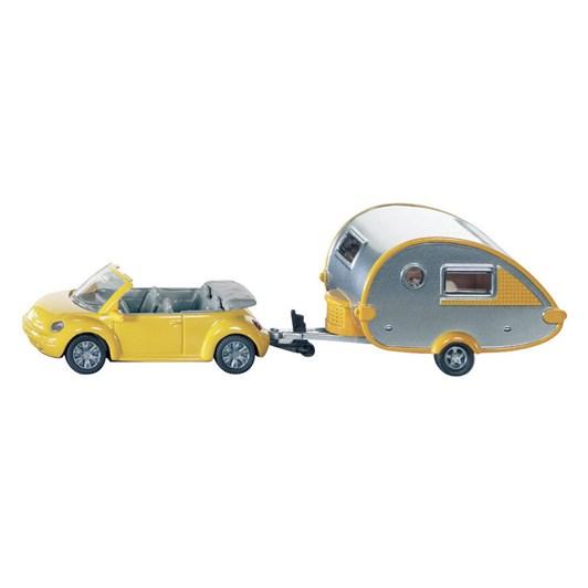 Siku Beetle Car with Caravan