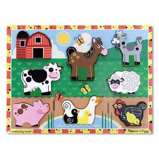 Melissa & Doug Chunky Farm Puzzle
