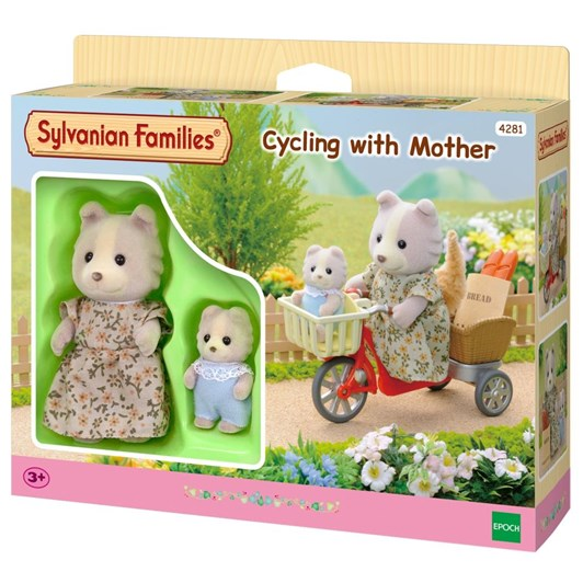 Sylvanian Families Cycling With Mother & Baby