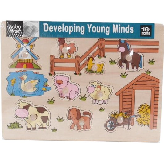 Baby First Farm Peg Puzzle