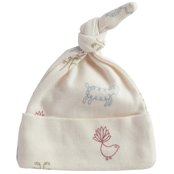 Nature Baby Organic Cotton Knotted Beanie - nature baby print
