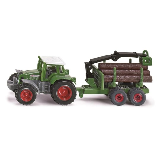 Siku Fendt Tractor - with Forestry Trailer