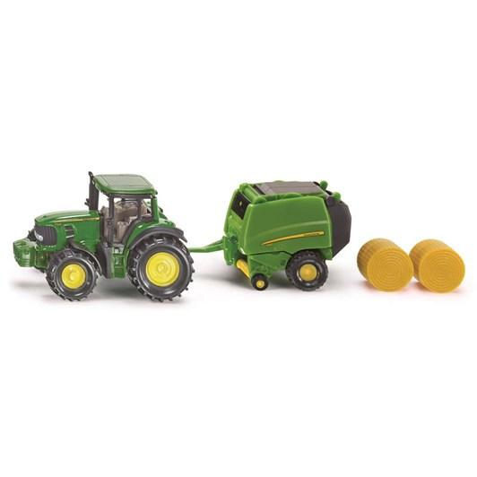 Siku John Deere Tractor - with Bailer