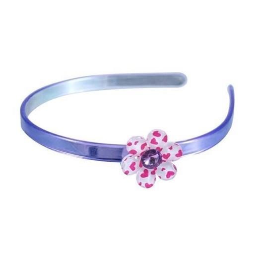 Sweetpea Headband - Heart Print Flower Gem