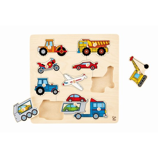 Hape Vehicles Knob Puzzle