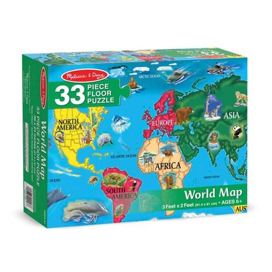 Melissa & Doug World Map Floor (33Pc)