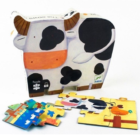 Djeco The Cows On The Farm 24 Pc Puz