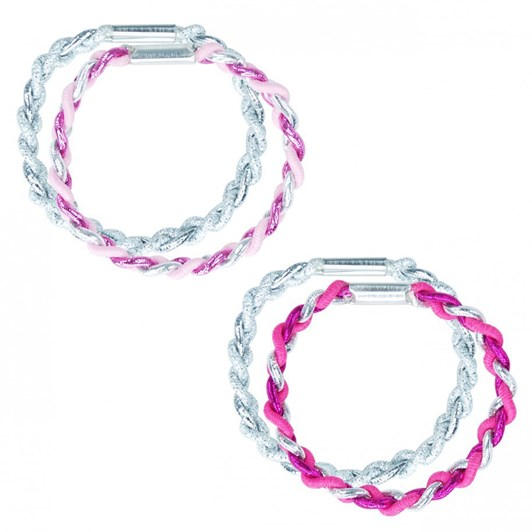 Pink Poppy Twisted Hair Elastics