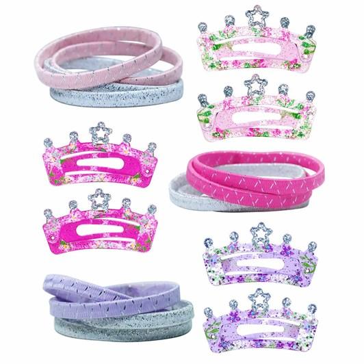 Pink Poppy Crown Hair Accessories Set