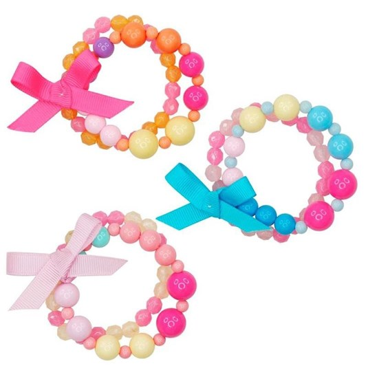 Pink Poppy Candy Jelly Bead Bracelet