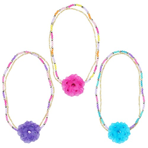 Pink Poppy Urban Princess Flower Necklace