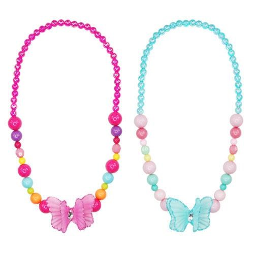 Pink Poppy Summer Paradise Butterfly Necklace