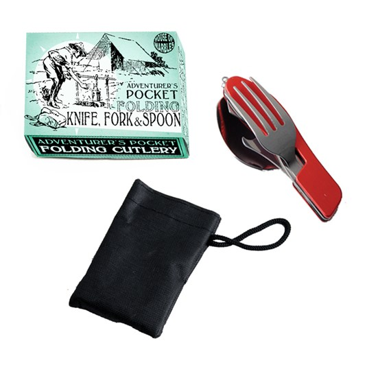 House Of Marbles Adventurer's Pocket Knife, Fork & Spoon Set