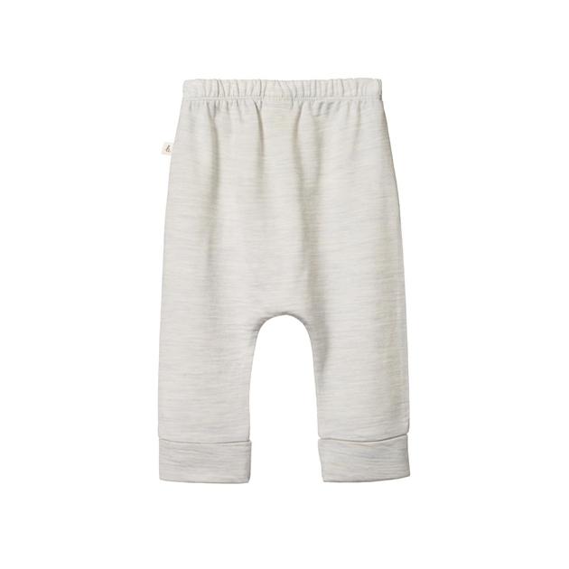 Nature Baby Merino Drawstring Pants - light grey marle