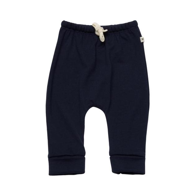 Nature Baby Merino Drawstring Pants - navy