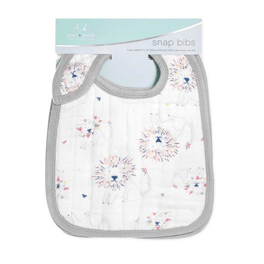 Aden + Anais Leader Of The Pack Classic Snap Bibs 3Pk