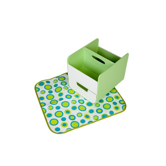 B.Box Nappy Caddy Green Retro Chic