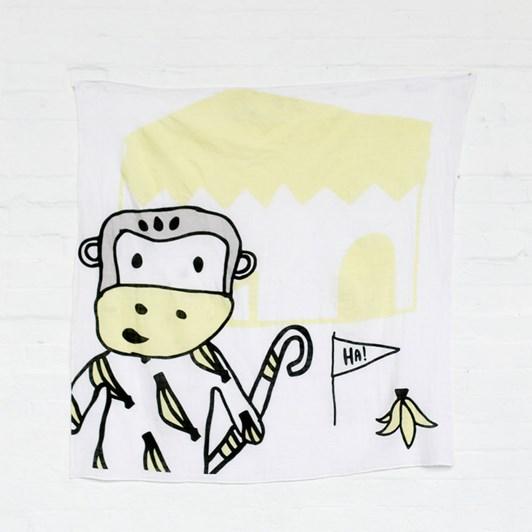 Kippins Splits Kippintale Lemon Monkey Muslin Wrap