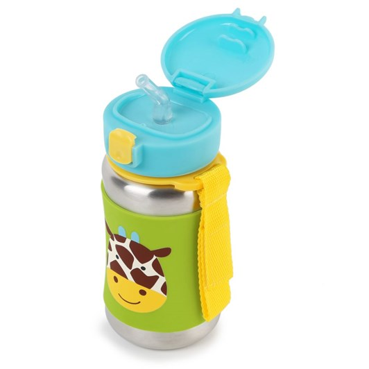 Skip Hop Zoo Ss Straw Bottle - Giraffe