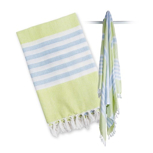Lulujo Turkish Towel - Aqua Blue & Green