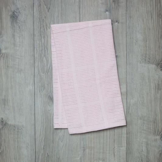 Lulujo Cellular Blanket Pink
