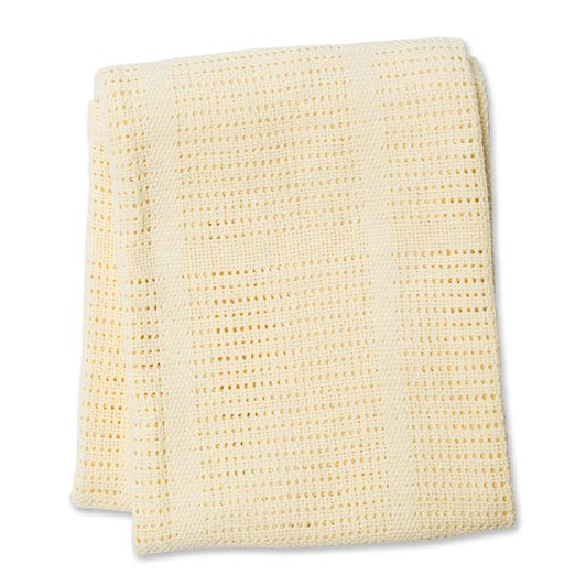 Lulujo Cellular Blanket - Yellow