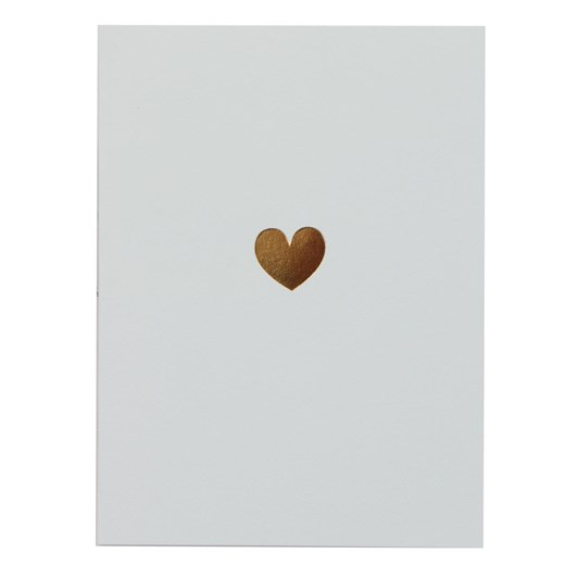 Oxted Blank with Gold Heart Card