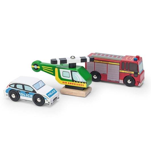 Le Toy Van Emergency Vehicles Set- New