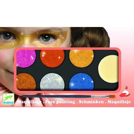 Djeco Maquillage - Palette 6 Colours- Metallic