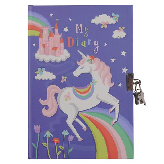Tiger Tribe Unicorn Rainbow Lockable Diary