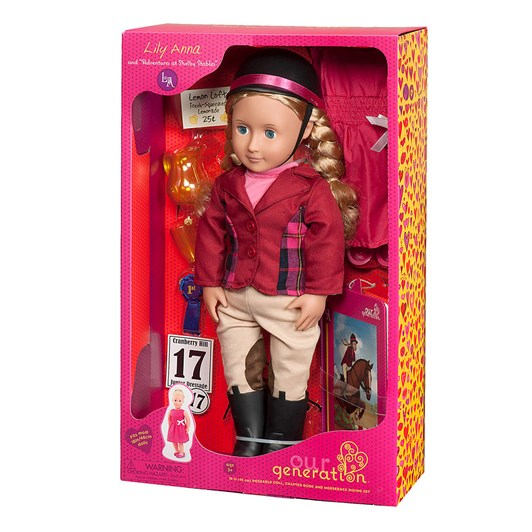 "Our Generation Dolls 18"" Deluxe Doll W Book - Lily Anna (Unit 2) M"