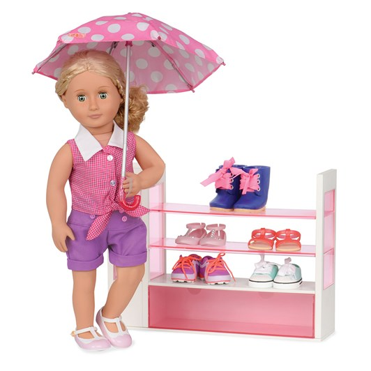 Our Generation Dolls  Og Accessory Set Deluxe - Doll Shoe Rack