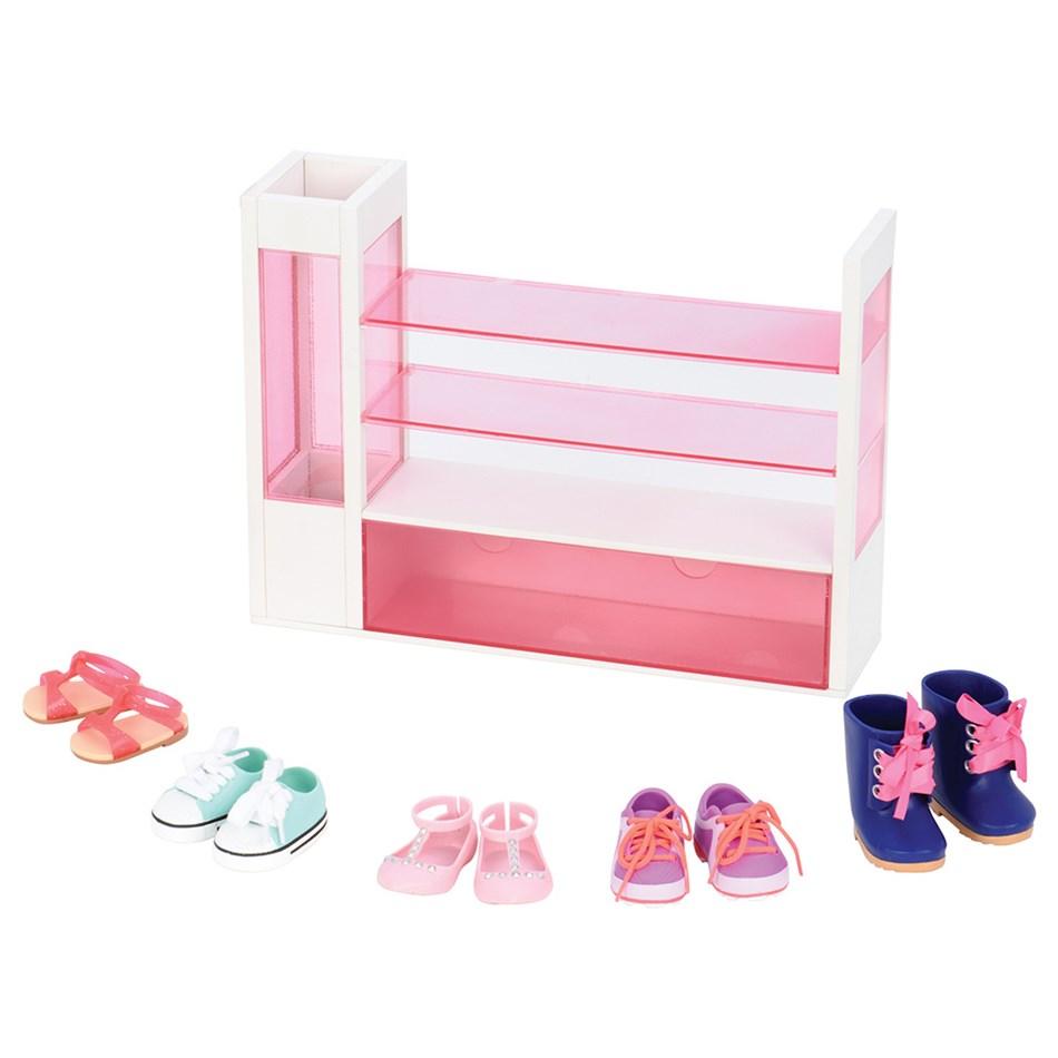 Our Generation Dolls  Og Accessory Set Deluxe - Doll Shoe Rack - na