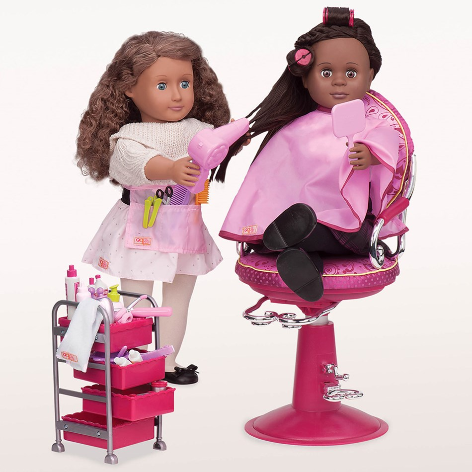 Our Generation Dolls Og Accessory Set Home - Berry Nice Hair Salon Play Set - na