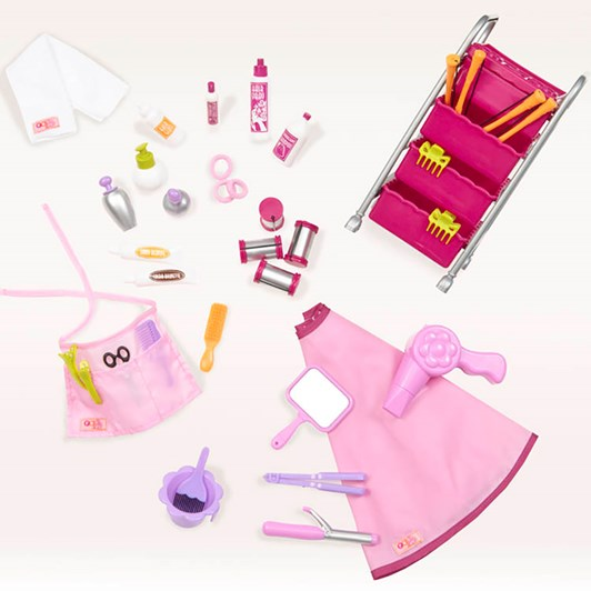 Our Generation Dolls Og Accessory Set Home - Berry Nice Hair Salon Play Set