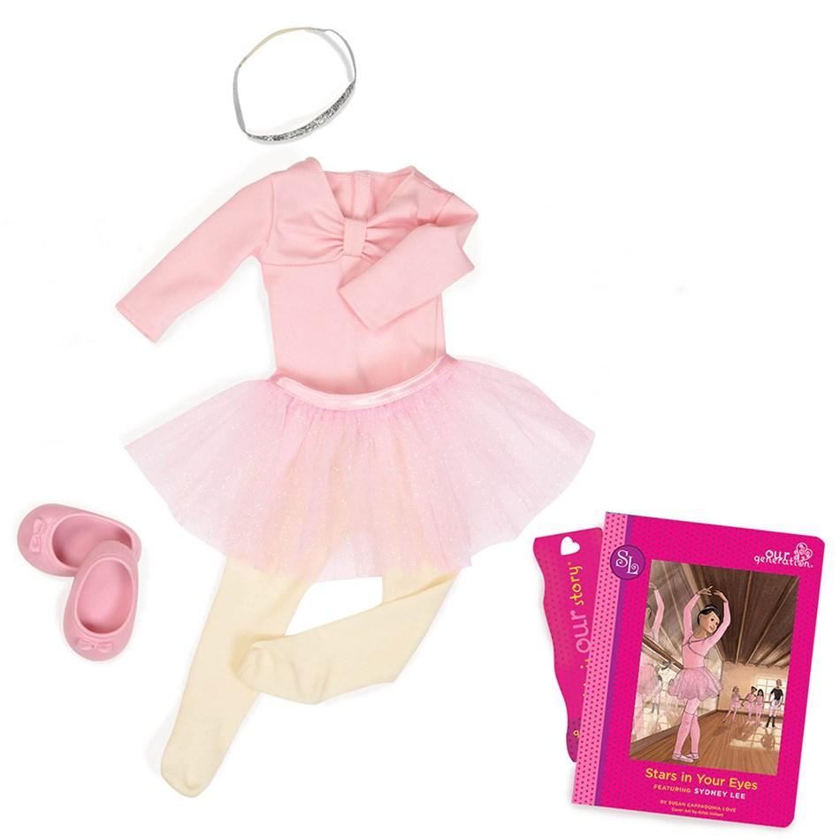 Our Generation Dolls Read & Play Set - Sydney Lees Ballet - na